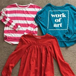 Bundle of girl's shirts